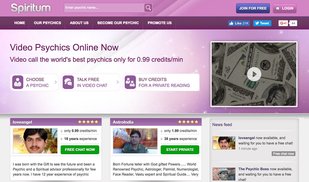 Spiritum Review – Video Psychics Online